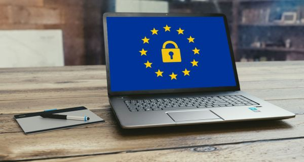 GDPR Logo on Computer Screen