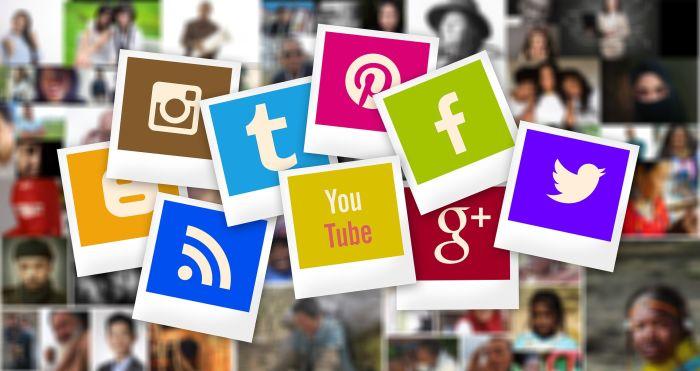 social media icons and logos