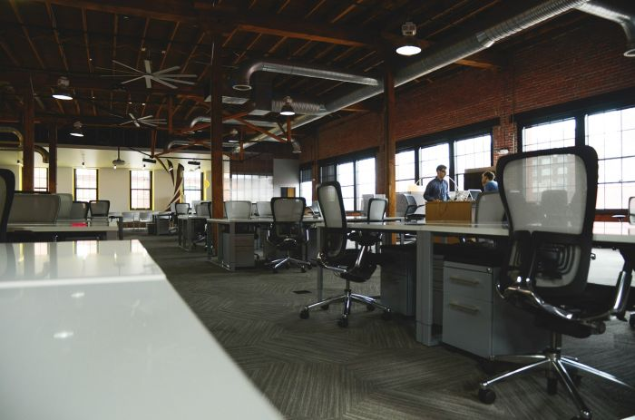 empty open office plan