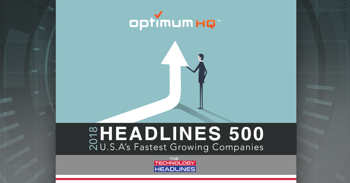 The Technology Headlines' Headlines 500 fastest growing companies graphic
