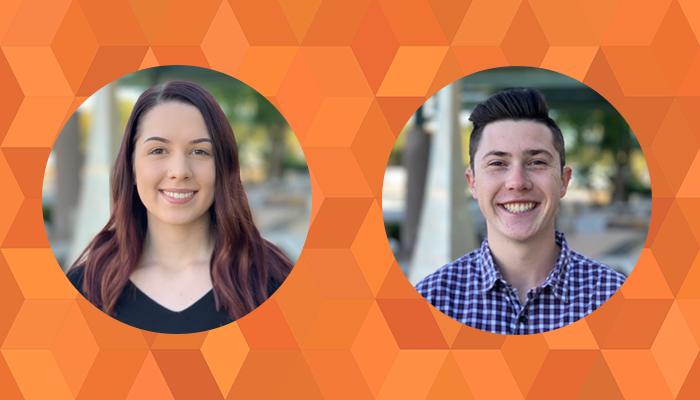 Mara Lintecum and Jacob Swanson sales/marketing interns for OptimumHQ