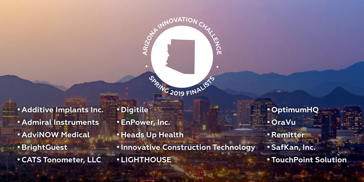 Arizona Innovation Challenge Finalists Spring 2019