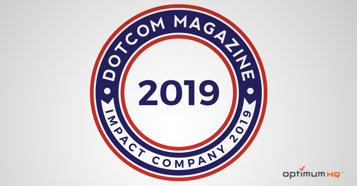 DotCom Magazine awards OptimumHQ the Impact Company 2019 Award