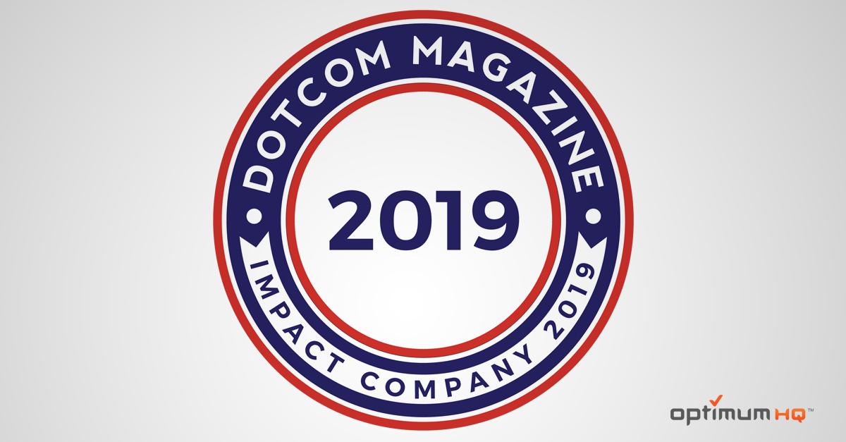 DotCom Magazine awards OptimumHQ the Impact Company 2019 Award