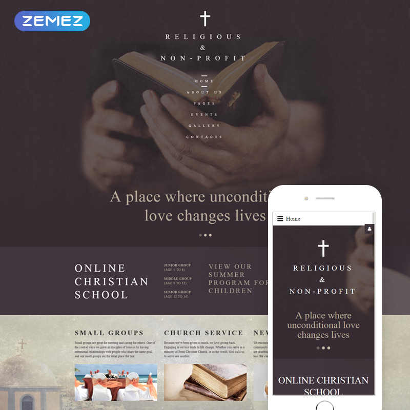 Christian Church - Religious & Non-Profit Joomla Template