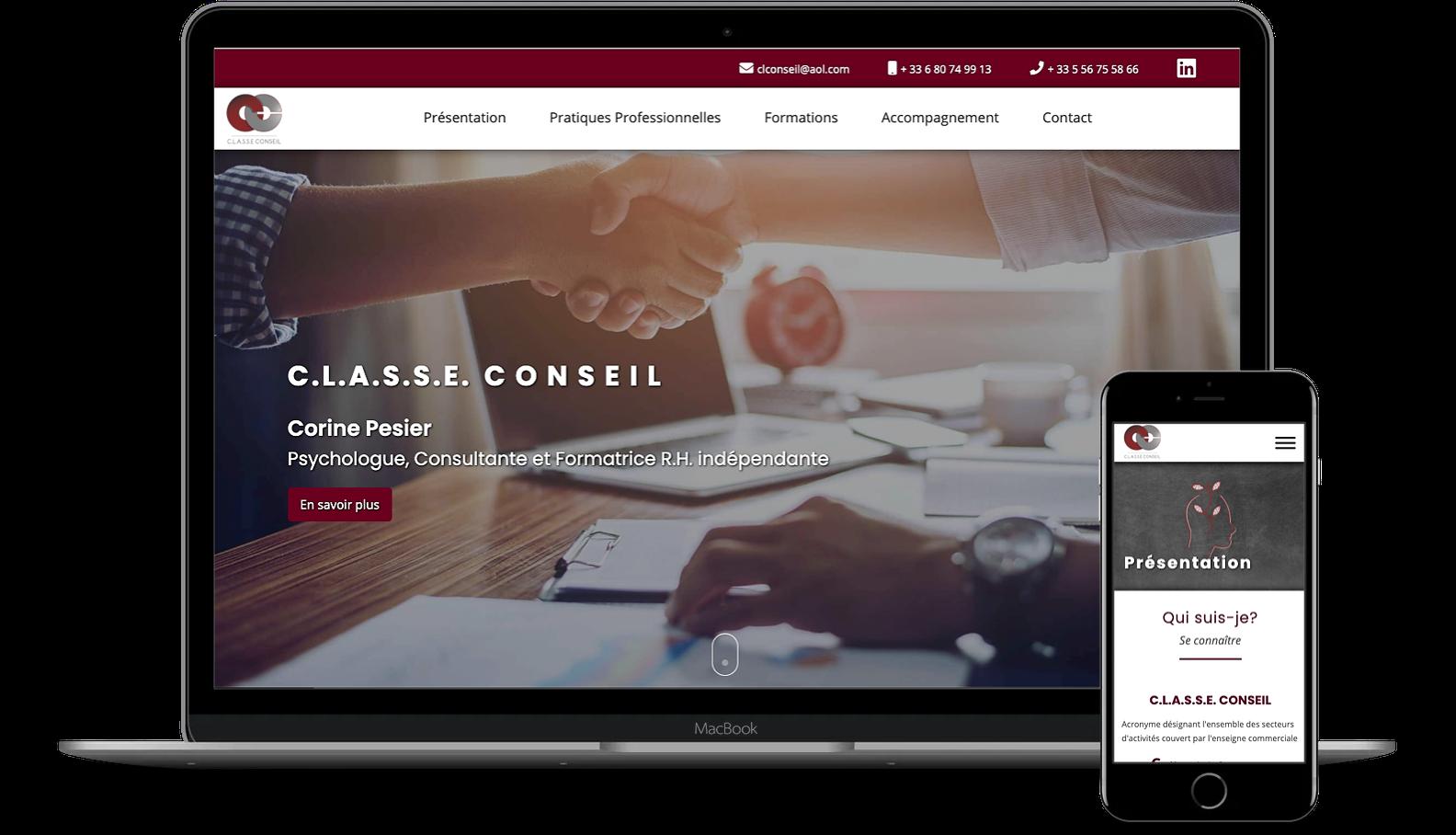 Full-Stack Web Developer - projects - C.L.A.S.S.E. CONSEIL