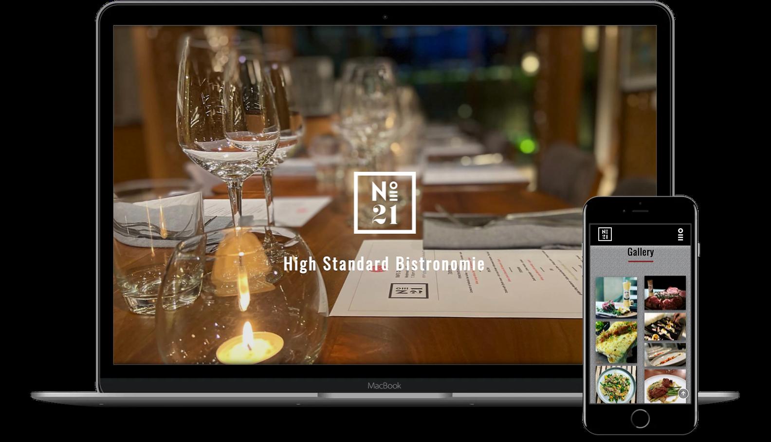 Full-Stack Web Developer - projects - N21 restaurant