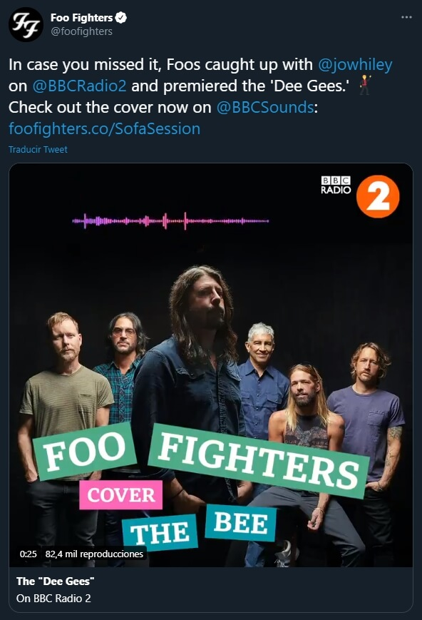 """Foo Fighters - """"You Should Be Dancing"""" - Twitter"""