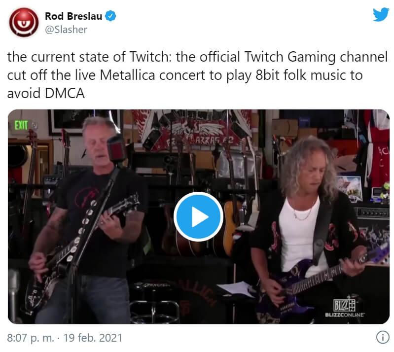 Metallica - Blizzcon 2021 - Twitter