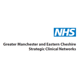 NHS logo with the writing Greater Manchester and Eastern Cheshire Strategic Clinical Networks underneath