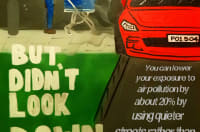 Woodhouse Park youth group artwork portraying car pollution