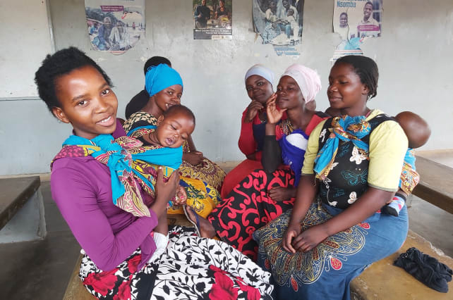 Women waiting to get their children vaccinated at Lungwena Health Centre, Mangochi district, Malawi. Credit: Rodrick Sambakunsi