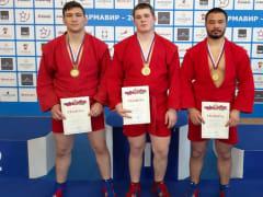 Каневские самбисты завоевали награды спартакиады молодёжи Кубани