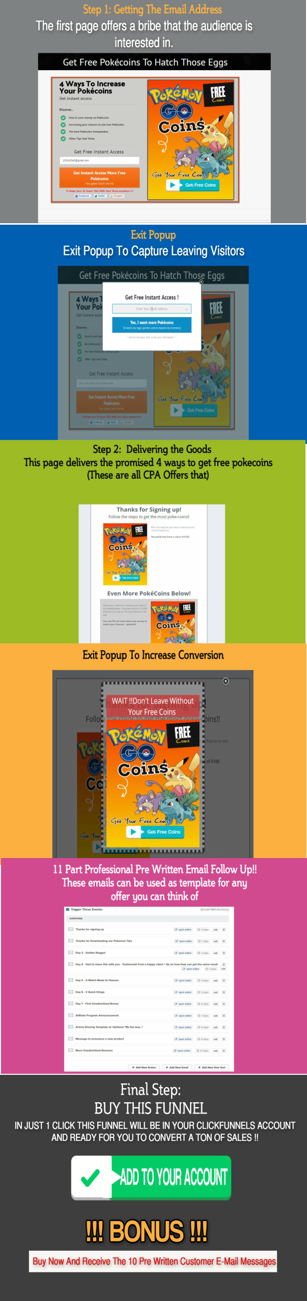 free pokemon CPA Clickfunnel Sales Funnel