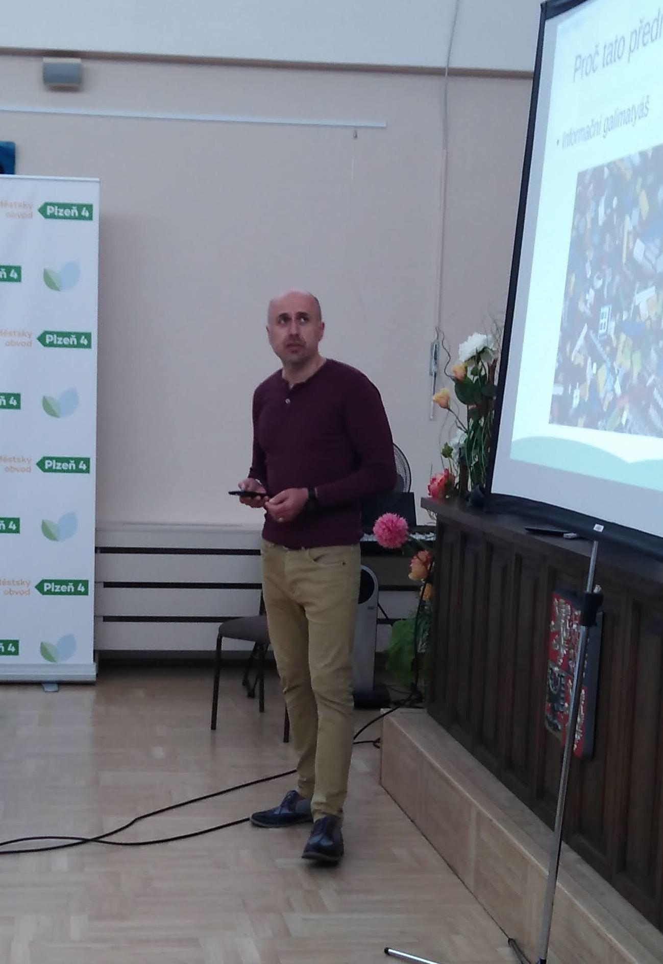 Martin Pausar, přednášející.