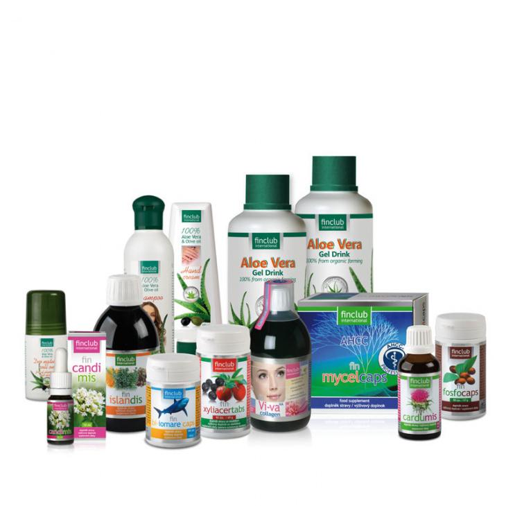 Balíček produktů Finclubu.