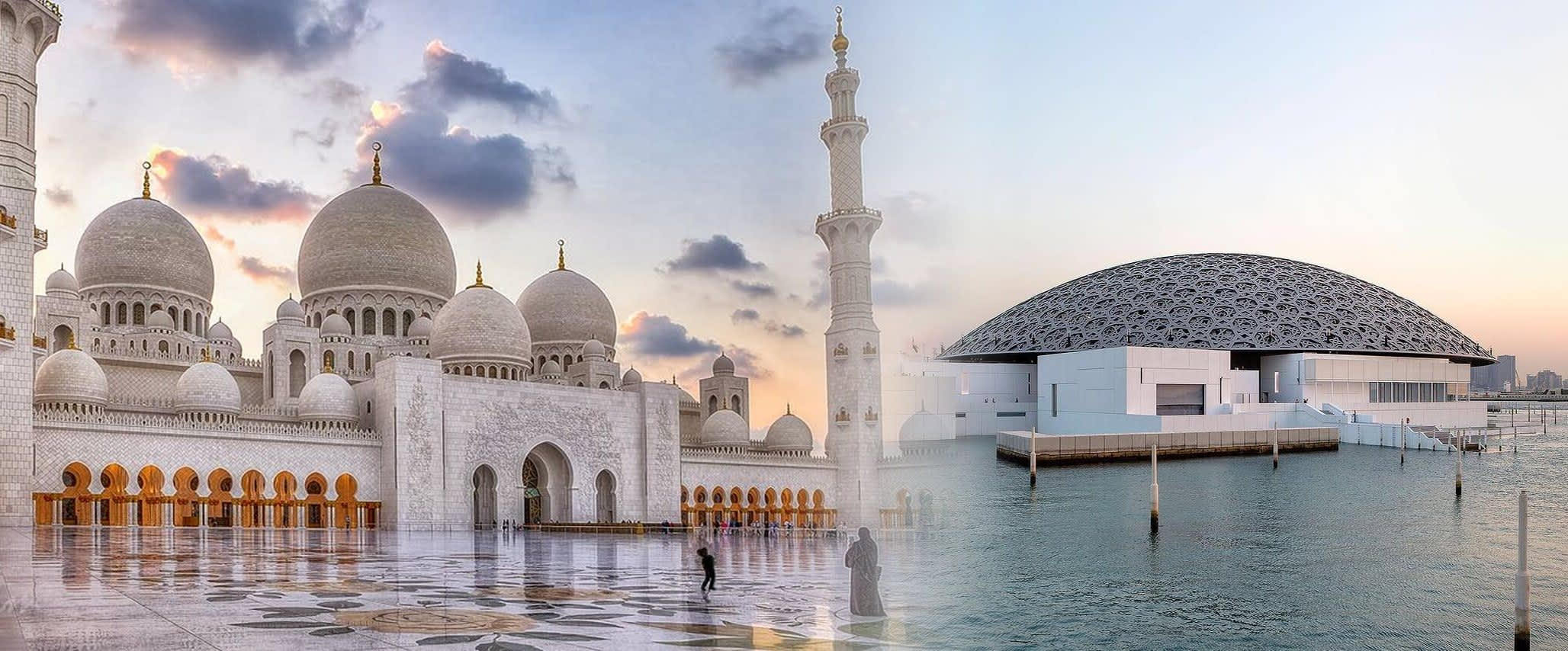 Abu Dhabi Highlights with Louvre Museum & Grand Mosque