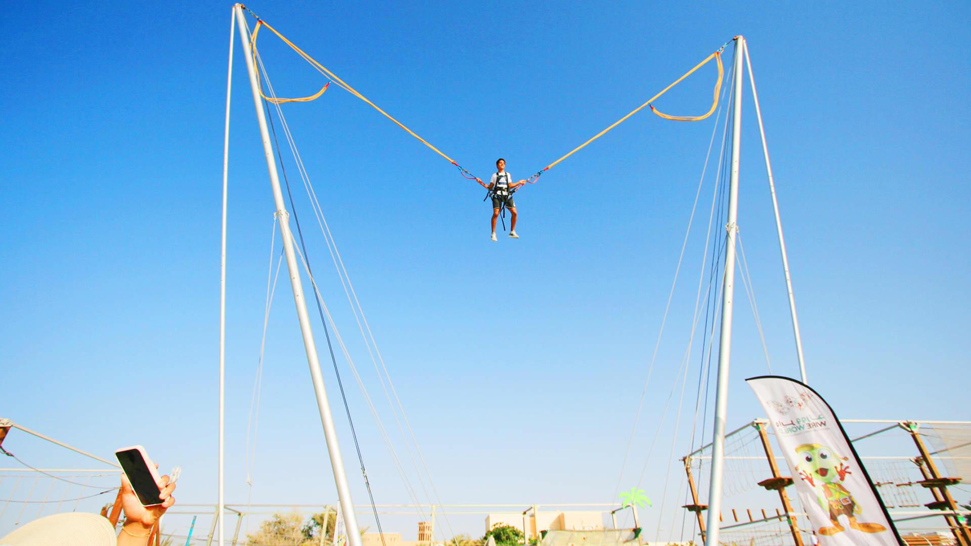 Swinging Tarzan + Bungee Ejection Kite beach