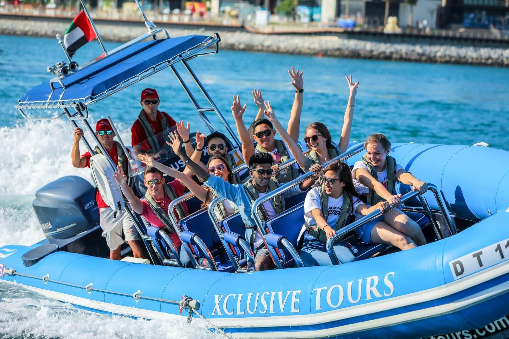 Xclusive Yachts - Speed Boat Tour: Marina, Atlantis, Palm, Burj Al Arab