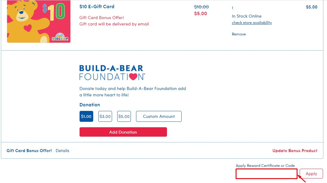 Redeem Build A Bear Gift Card