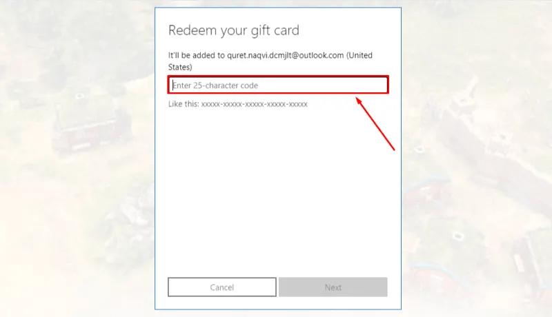 Redeem Xbox Gift Card