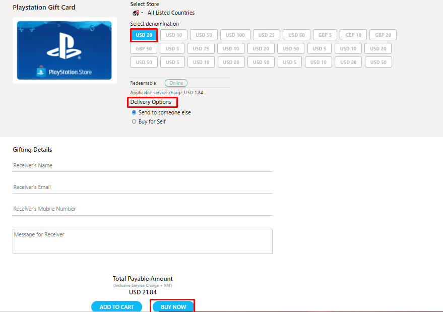 Get PlayStation Gift Card