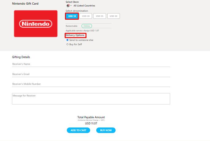 Get NintendoGift Card