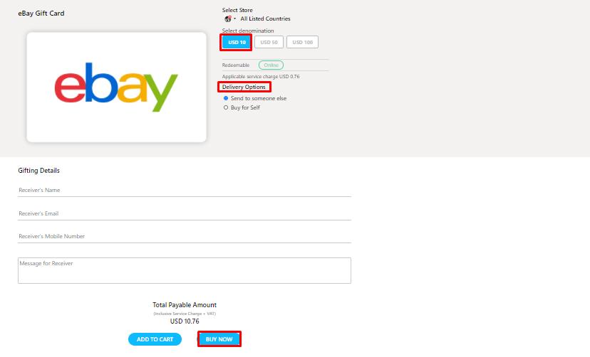 Get eBay Gift Card