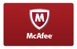 McAfee Internet Security Gift Cards