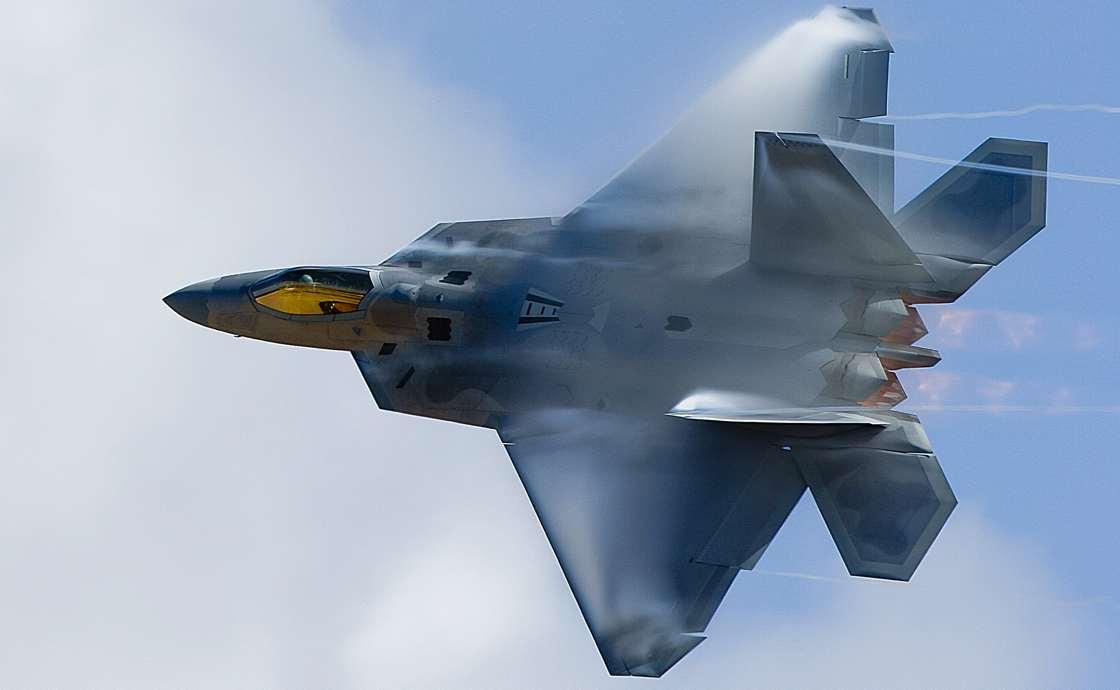 F-22 Raptor with afterburner