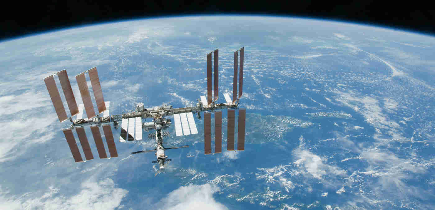 planet Earth and the International Space Station