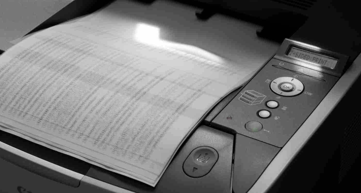 print-outs on a laser printer