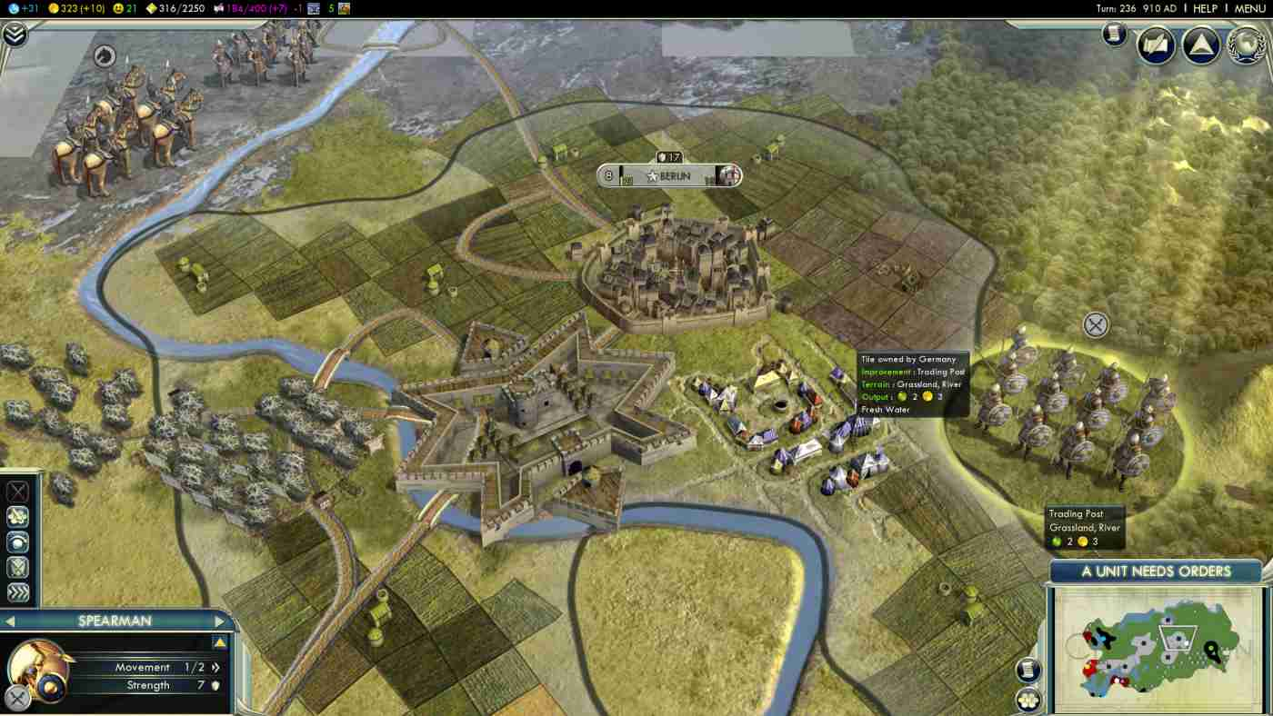 screen capture from Civilization 5: Campaign Edition