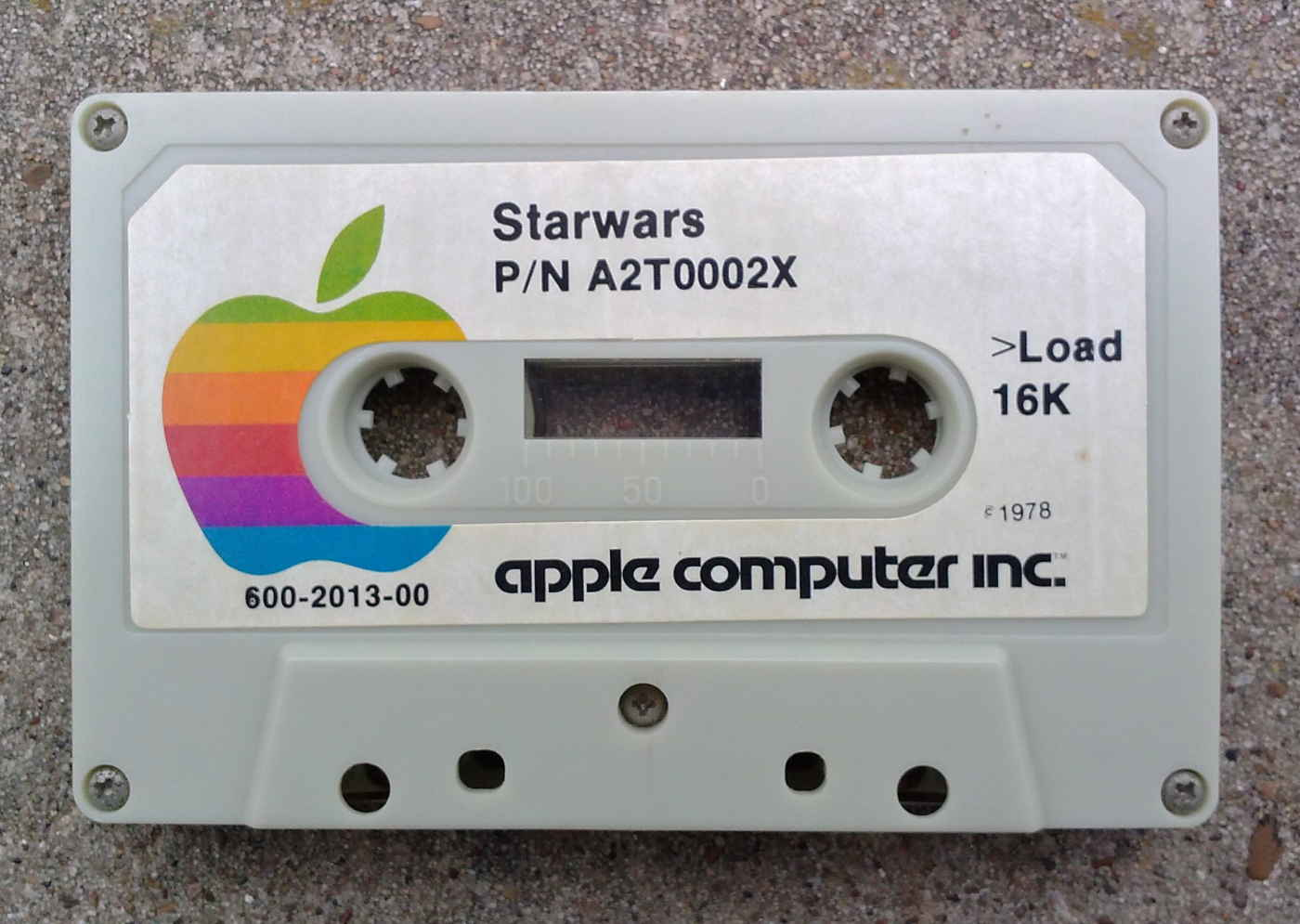 Apple 'Star Wars' program cassette