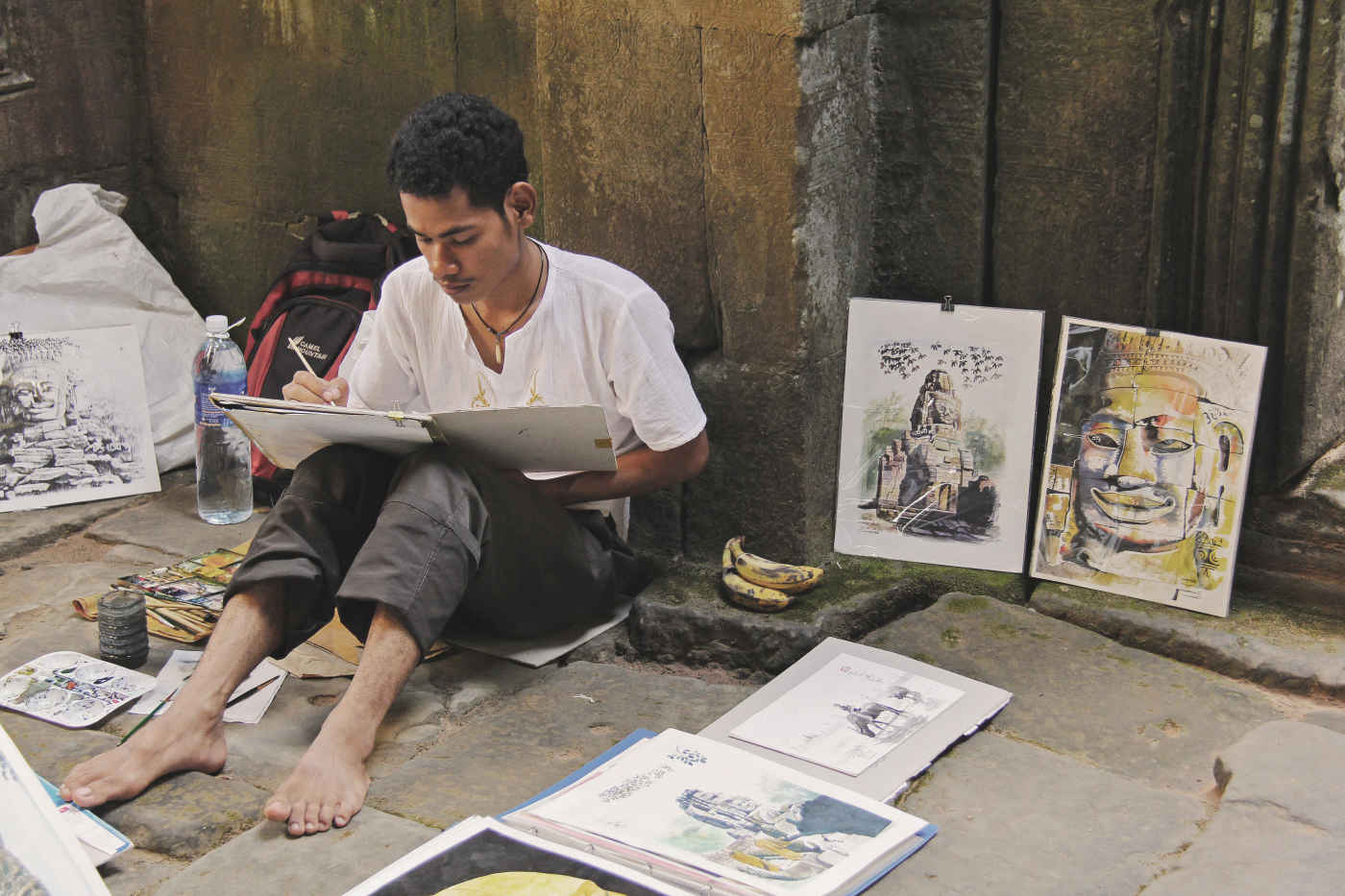 artist, with a selection of his work