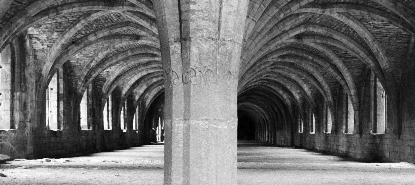 The Monks' Cellarium at Fountains Abbey