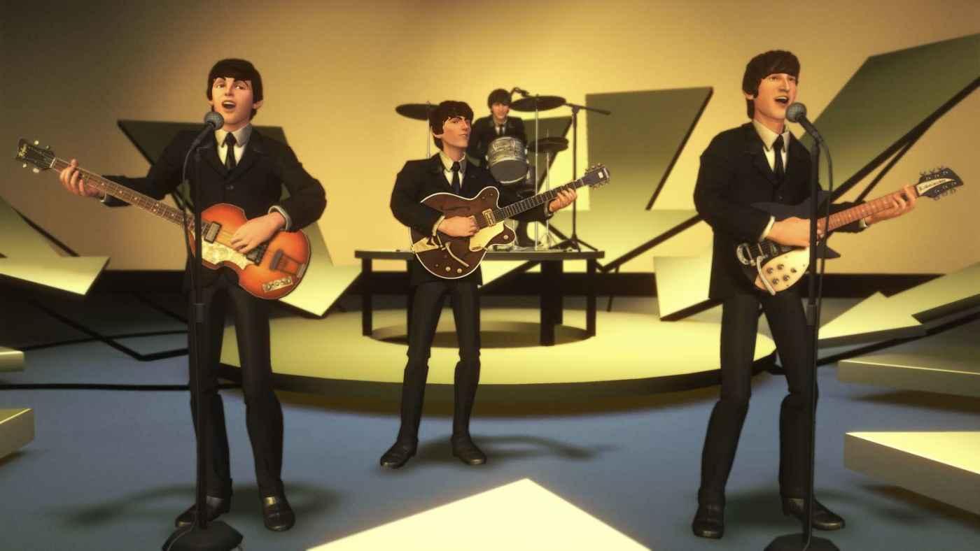 cartoon image of The Beatles
