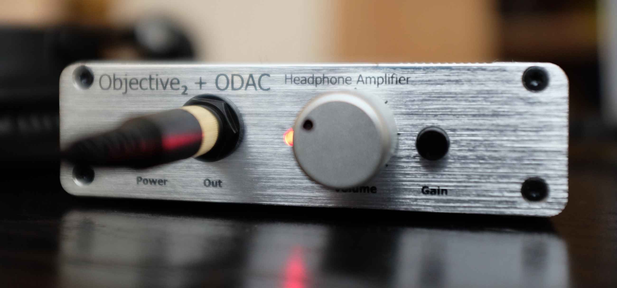 The Objective 2 headphone amplifier with integrated DAC