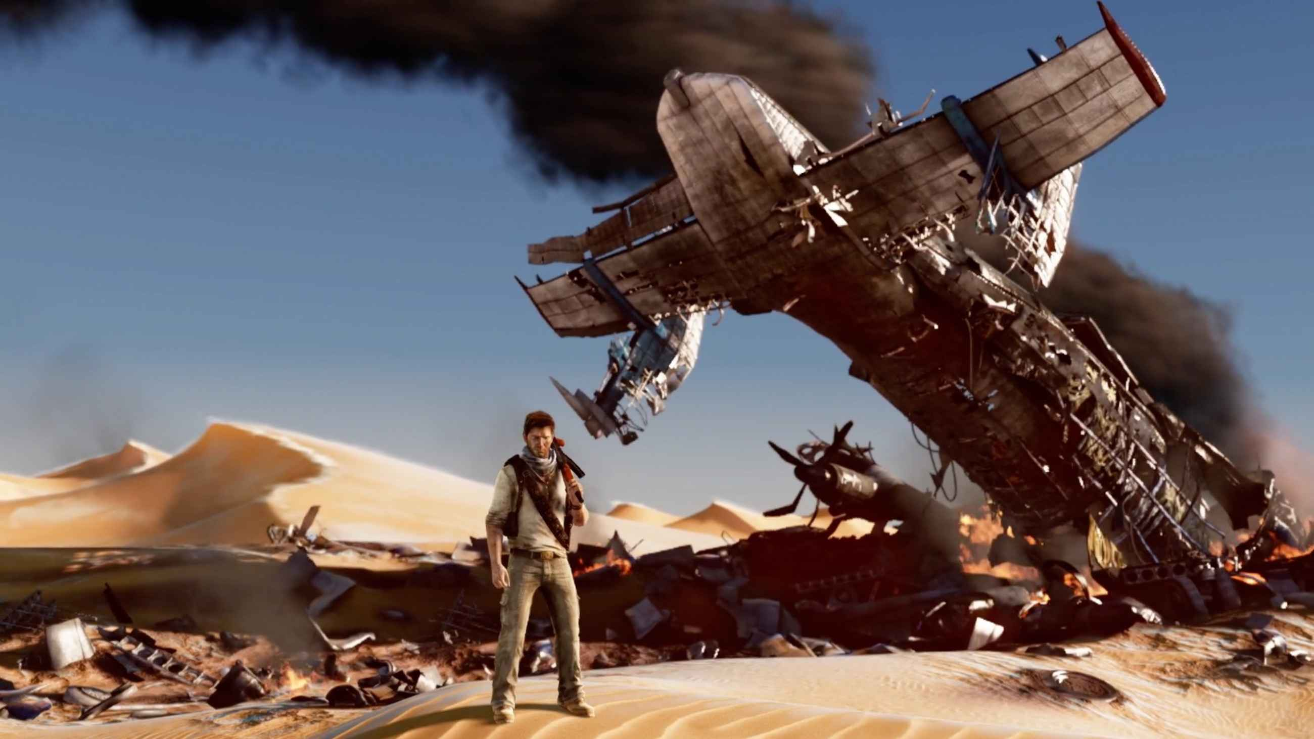 screen capture from the video game Uncharted: The Nathan Drake Collection