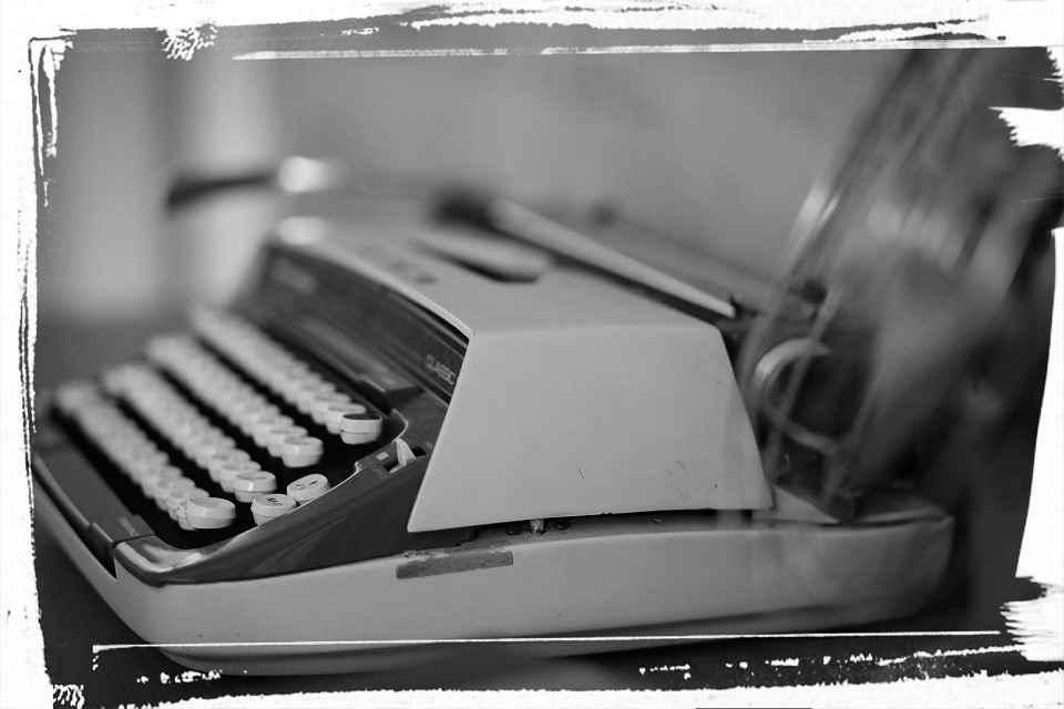 retro mechanical typewriter