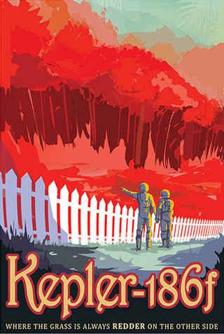 Kepler-186f - JPL Travel Poster