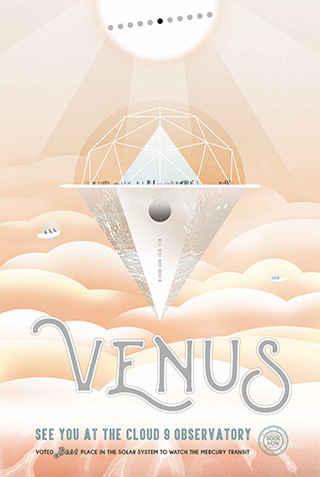 Venus - JPL Travel Poster