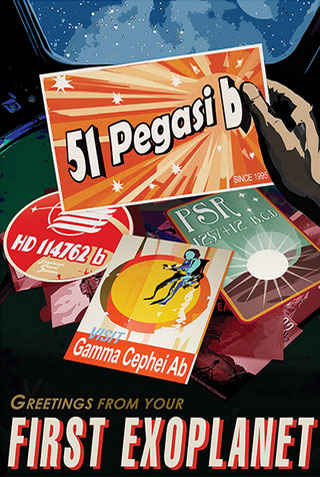 51 Pegasi b - JPL Travel Poster