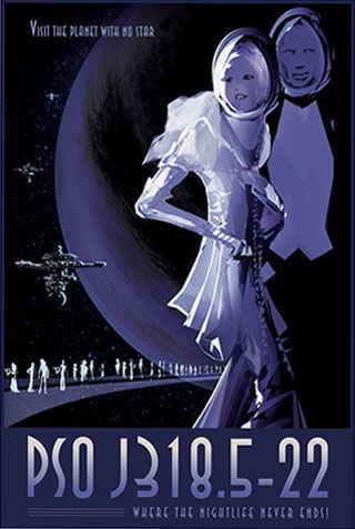 Night Life - JPL Travel Poster
