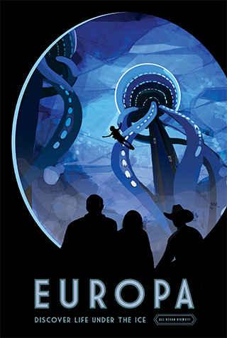 Europa - JPL Travel Poster