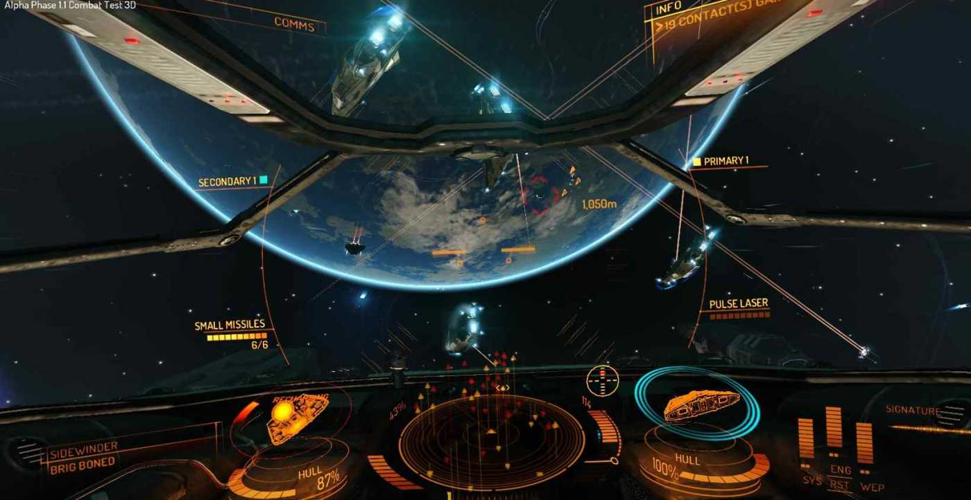 Space-ships prepare for battle in the orbit of a planet.