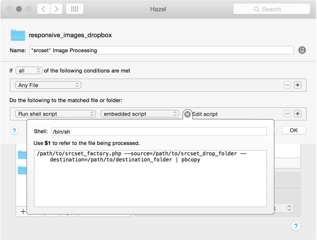 configuring 'Hazel' rules on OSX