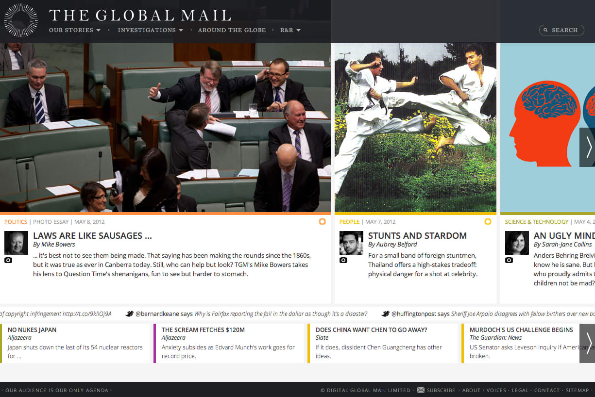 The Global Mail - screen capture