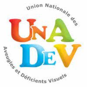 Logo UNADEV - Union Nationale des Aveugles et Déficients Visuels
