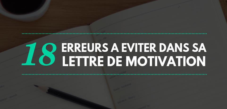 18 Erreurs à éviter dans une Lettre de Motivation